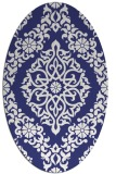 rug #944613 | oval blue traditional rug