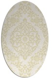 rug #944633 | oval white traditional rug