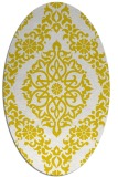 rug #944641 | oval yellow traditional rug