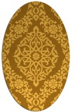 rug #944645 | oval yellow geometry rug
