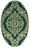 rug #944649 | oval blue-green popular rug