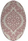 rug #944673 | oval pink popular rug
