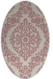 rug #944673   oval pink damask rug