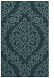 rug #944761 |  blue-green damask rug