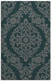 rug #944817 |  blue-green damask rug