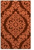 rug #944897 |  orange traditional rug