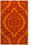 rug #944937    orange damask rug