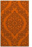 rug #944957    red-orange damask rug
