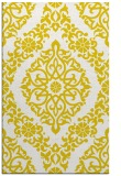rug #945001 |  yellow damask rug