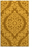 rug #945005 |  yellow damask rug