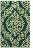 rug #945009 |  yellow damask rug