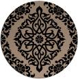 rug #945057 | round black damask rug