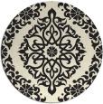 rug #945069   round black damask rug
