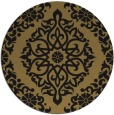 rug #945073 | round mid-brown traditional rug