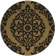 rug #945073 | round black damask rug