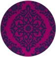rug #945081 | round pink damask rug