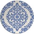 rug #945093   round blue damask rug