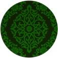 rug #945105 | round green damask rug