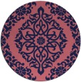 rug #945141   round pink traditional rug