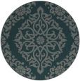 rug #945177 | round green damask rug