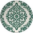 rug #945181 | round green damask rug