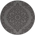 rug #945193 | round mid-brown traditional rug
