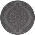 rug #945193 | round brown damask rug