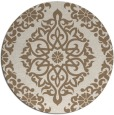 rug #945197   round mid-brown traditional rug