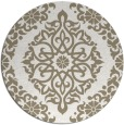 rug #945201 | round mid-brown damask rug