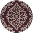 rug #945205 | round pink damask rug