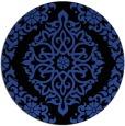 rug #945217 | round black damask rug