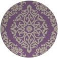 rug #945229 | round purple traditional rug