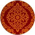 rug #945245 | round red-orange damask rug