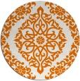 rug #945249 | round orange geometry rug