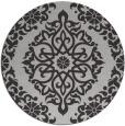 rug #945257 | round orange damask rug