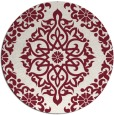 rug #945265 | round pink rug