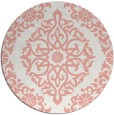 rug #945273 | round white traditional rug