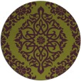rug #945281   round purple damask rug
