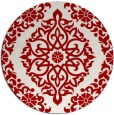 rug #945293 | round red rug