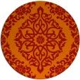 rug #945297 | round orange traditional rug