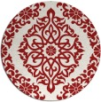 rug #945301 | round red traditional rug