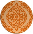 rug #945313 | round red-orange traditional rug