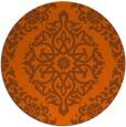rug #945317 | round red-orange popular rug