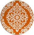 rug #945321 | round red-orange damask rug