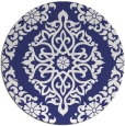 rug #945333 | round white traditional rug