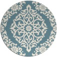 rug #945341 | round blue-green traditional rug