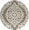 rug #945345   round beige damask rug