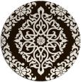 rug #945357 | round brown damask rug