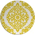 rug #945361 | round yellow traditional rug