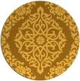 rug #945365 | round yellow damask rug